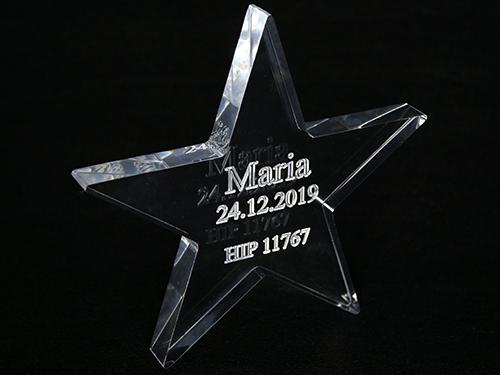 Gwiazda ze szkła akrylowego