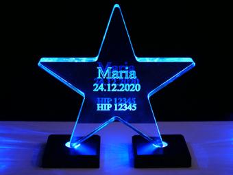 Akrylowa gwiazda (z podświetleniem)